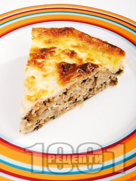 Щирник с лапад и ориз по трънски - снимка на рецептата